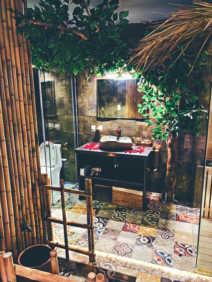 Trang trí tre trúc cho khu nghỉ dưỡng tuần trăng mật
