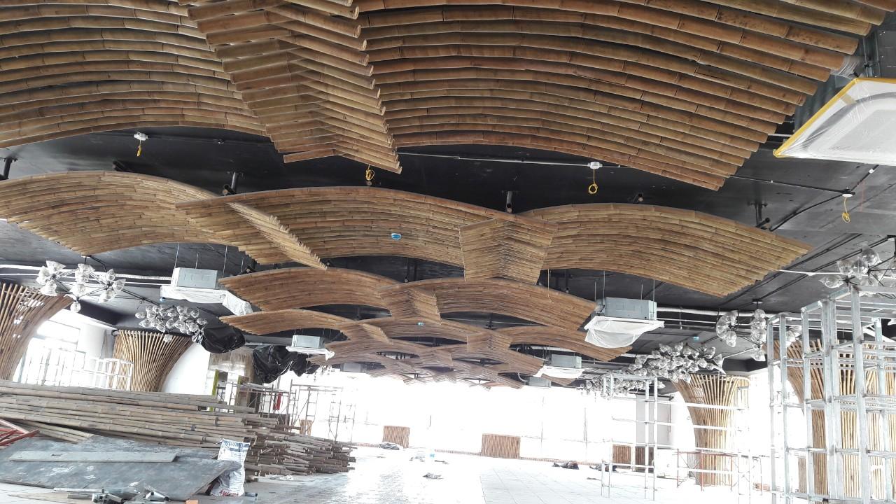 Ốp trần tre trúc nghệ thuật