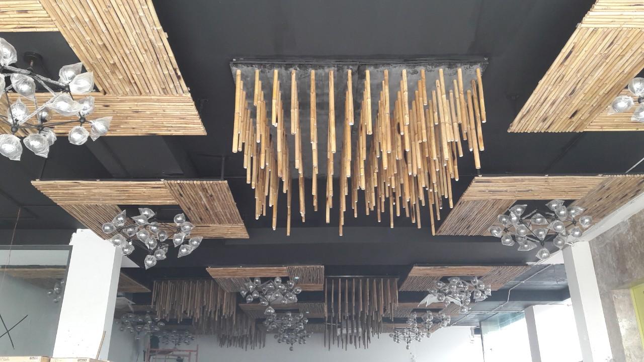 Ốp trần tre - nét nghệ thuật độc đáo mới lạ