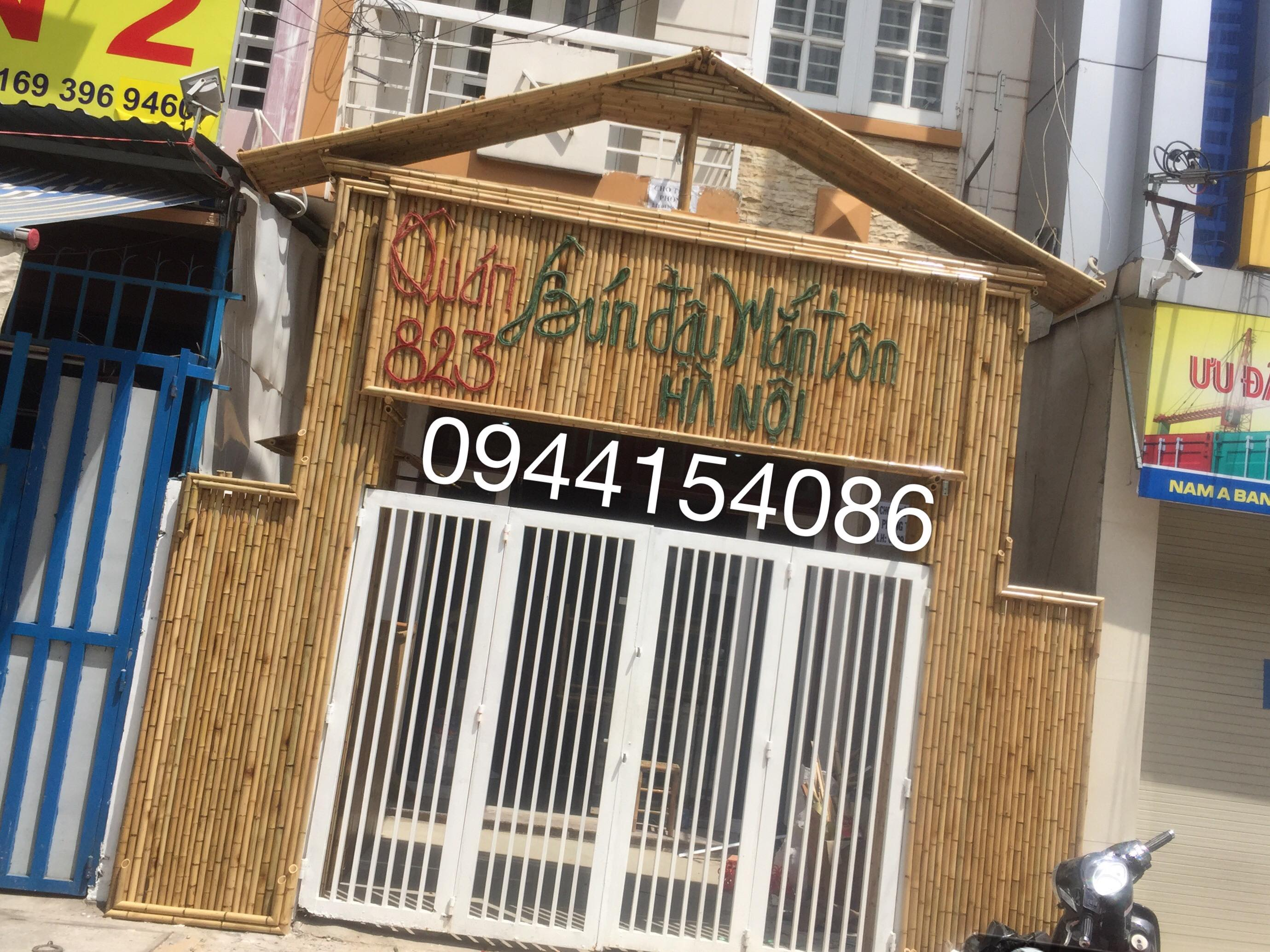 Thi công tre trúc nhận thi công trang trí quán bún đậu tại Sài Gòn