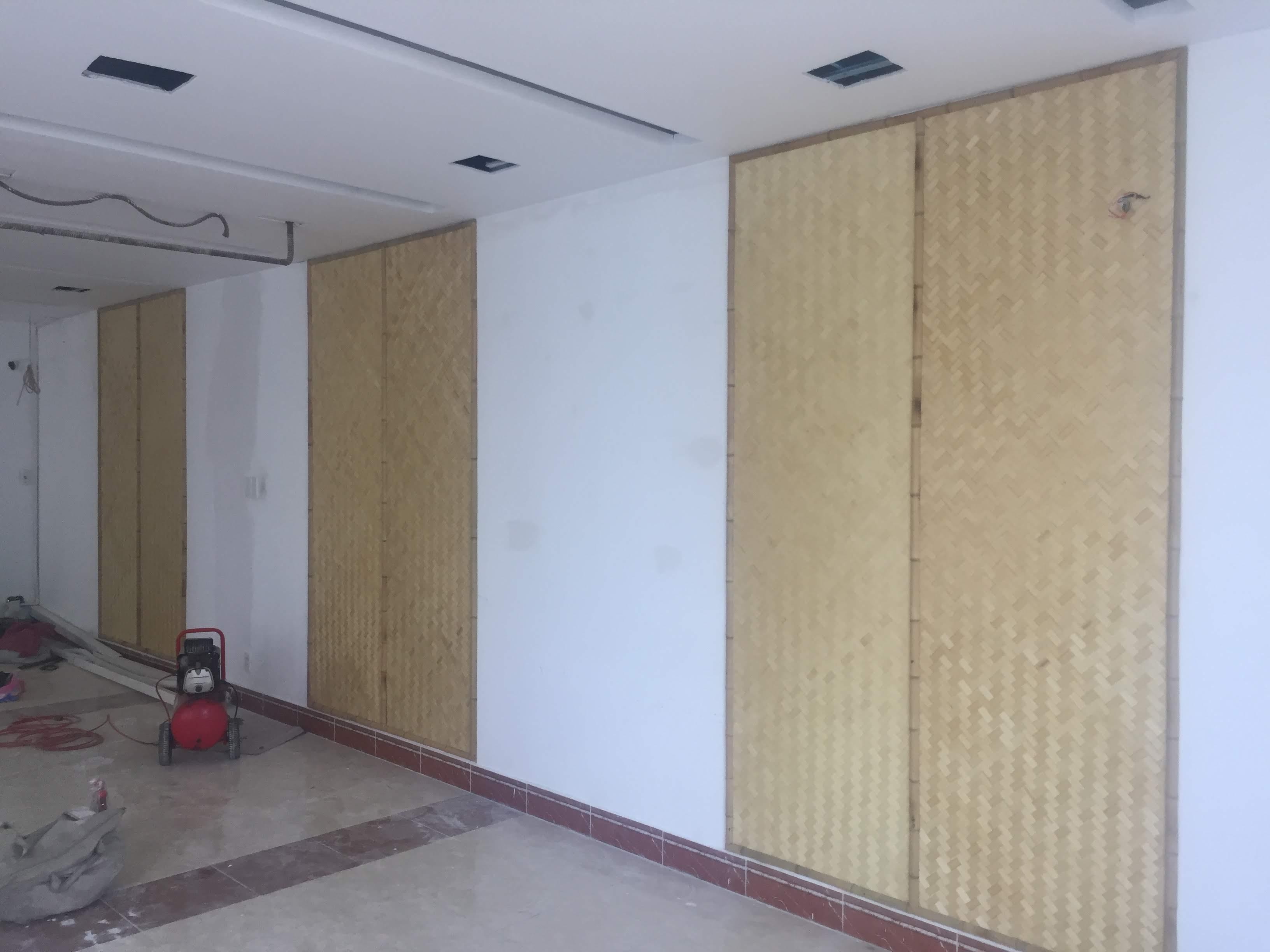 Cót tre ép ốp tường trang trí nhà ở