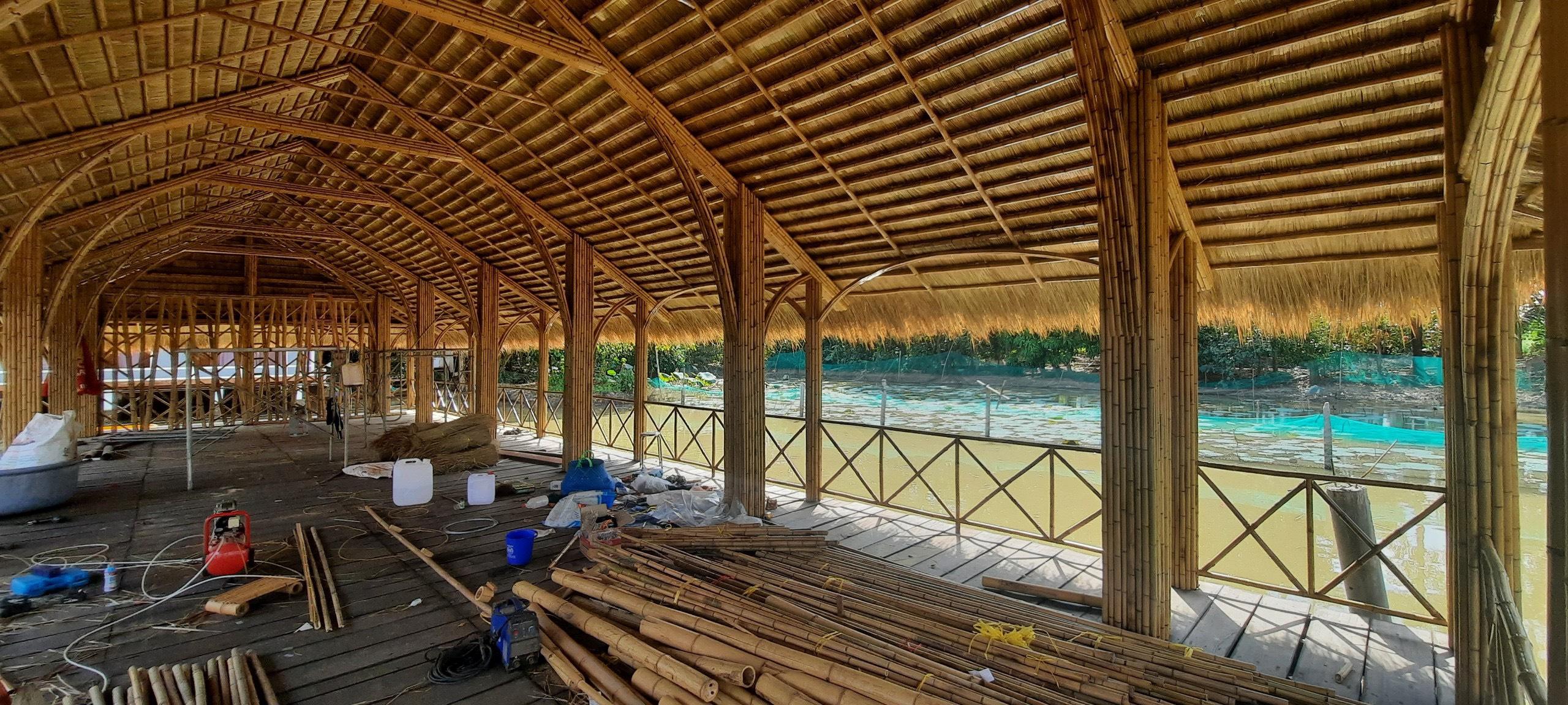 Thi công làm nhà tre cho khu du lịch tại Đồng Nai